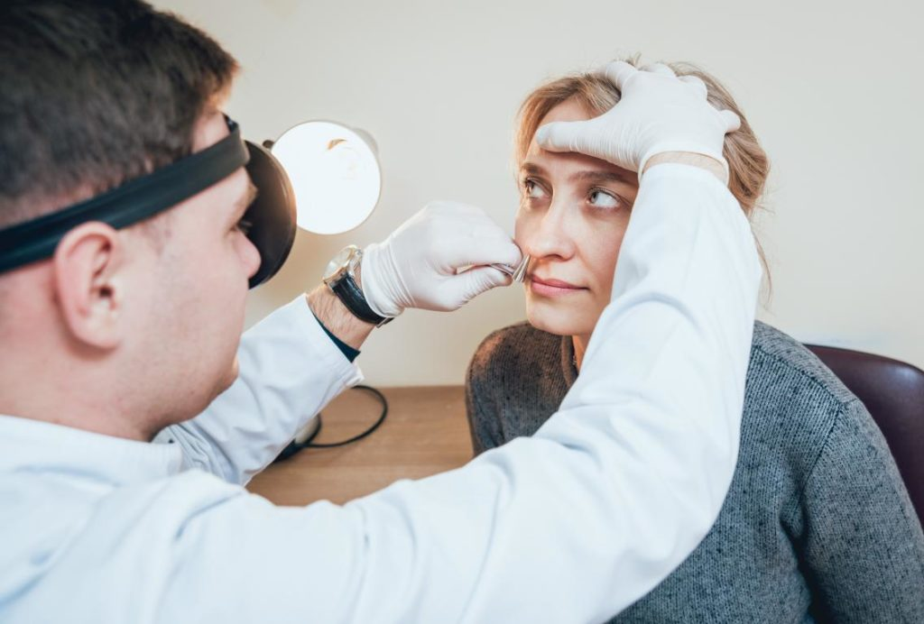 Visita cavità nasali